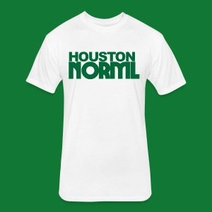 Men's Cotton Tee Houston NORML Green Logo - Fitted Cotton/Poly T-Shirt by Next Level