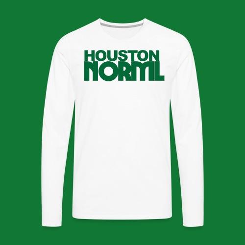Men's Cotton Tee Houston NORML Green Logo - Men's Premium Long Sleeve T-Shirt
