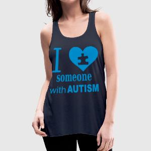 Autism Love Women's T-Shirts - Women's Flowy Tank Top by Bella