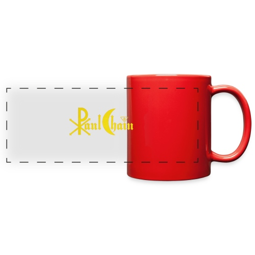 Paul Chain Coffee Mug ~ Yellow on Red - Full Color Panoramic Mug