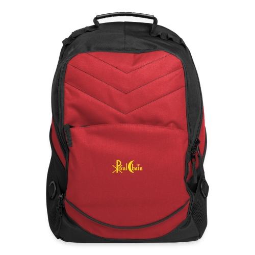 Paul Chain Coffee Mug ~ Yellow on Red - Computer Backpack