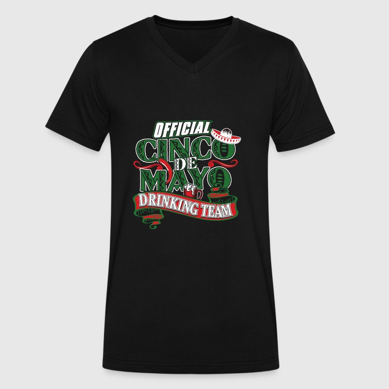 Cinco de Mayo Drinking Team T-Shirts - Men's V-Neck T-Shirt by Canvas