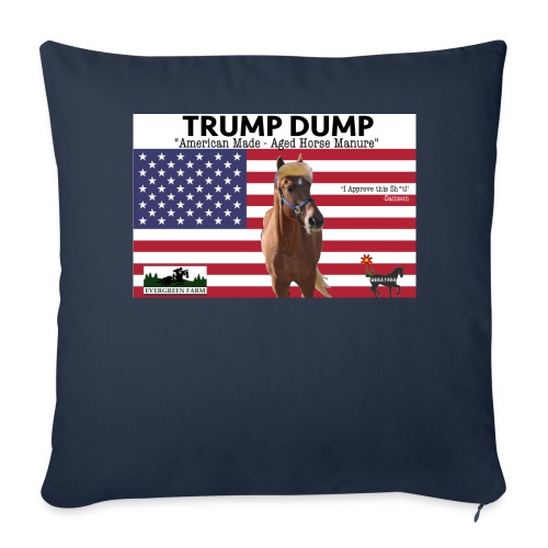 Trump Dump T - Throw Pillow Cover