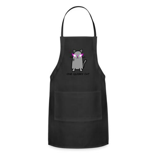 Quirky Cat T-Shirt - Adjustable Apron