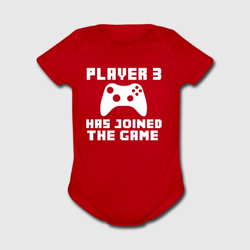 Player 3 has Joined the Game funny baby shirt - Short Sleeve Baby Bodysuit