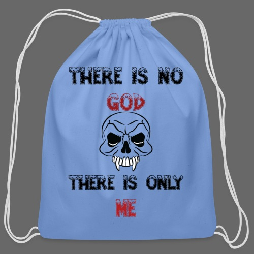 DG There is no god There is only me - Cotton Drawstring Bag