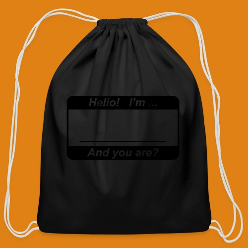 Hello! I'm... - Cotton Drawstring Bag