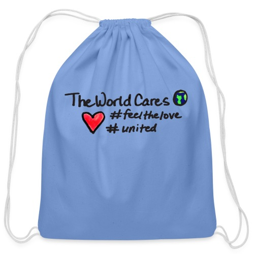 WorldCares tote - Cotton Drawstring Bag