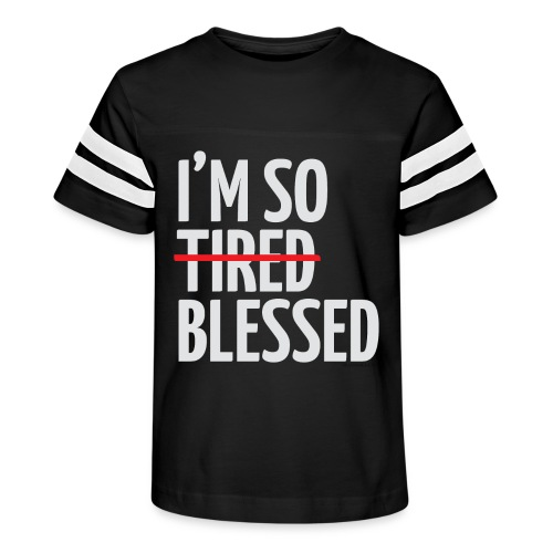 Not Tired, Blessed - White - Kid's Vintage Sport T-Shirt