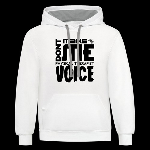 Mens PT Voice Physical Therapy Tee - White - Contrast Hoodie