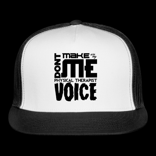 Mens PT Voice Physical Therapy Tee - White - Trucker Cap