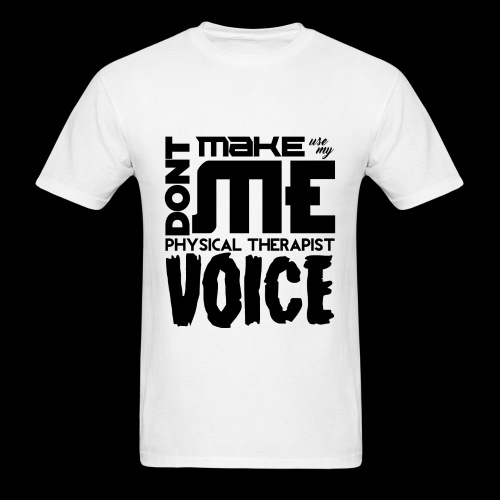 Mens PT Voice Physical Therapy Tee - White - Men's T-Shirt