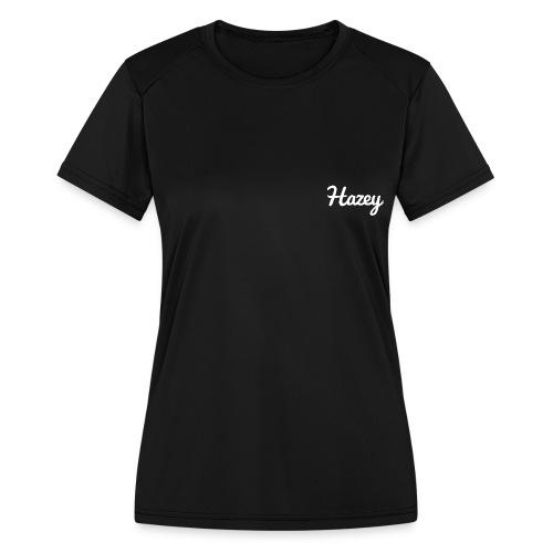 Slick Hipster Hoodie (White Logo) - Women's Moisture Wicking Performance T-Shirt
