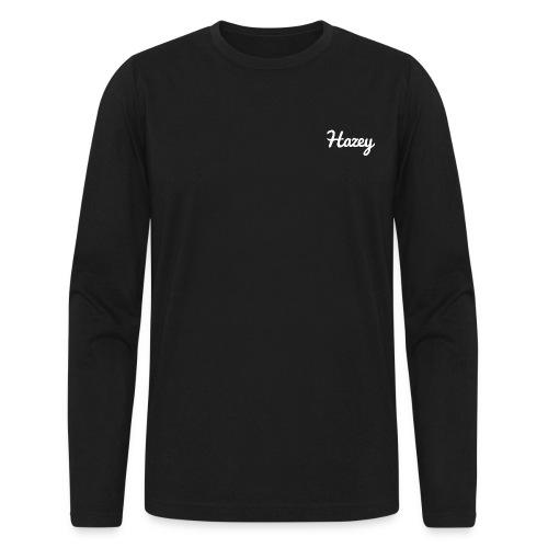 Slick Hipster Hoodie (White Logo) - Men's Long Sleeve T-Shirt by Next Level