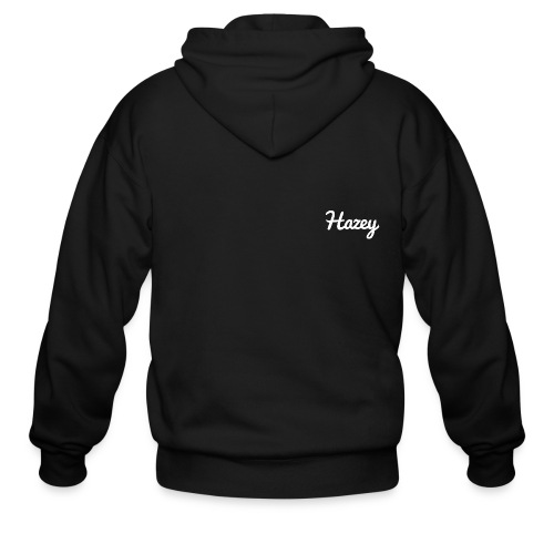 Slick Hipster Hoodie (White Logo) - Men's Zip Hoodie