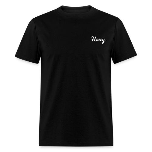 Slick Hipster Hoodie (White Logo) - Men's T-Shirt