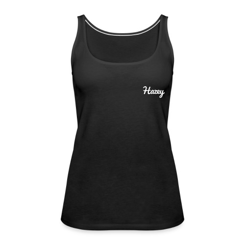 Slick Hipster Hoodie (White Logo) - Women's Premium Tank Top