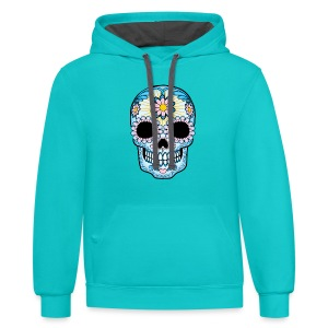 SUGAR SKULL VALUE T-SHIRTS - women - Contrast Hoodie