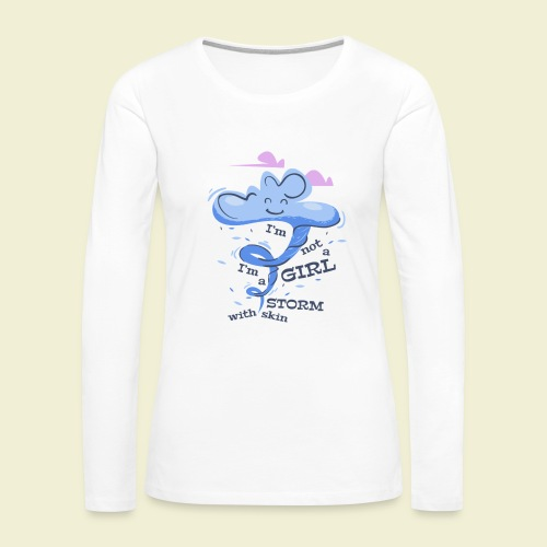 A storm with skin - Women's Premium Long Sleeve T-Shirt