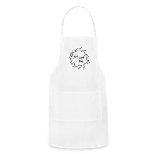 Blessed is She Wreath Muscle Tee - Adjustable Apron