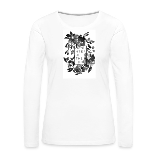 Daughter of the King Muscle Tee - Women's Premium Long Sleeve T-Shirt
