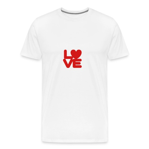 LOVE ♥ 01 ♥ - Men's Premium T-Shirt