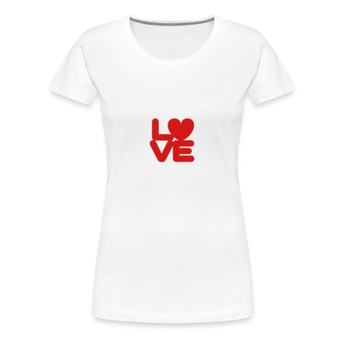 LOVE ♥ 01 ♥ - Women's Premium T-Shirt