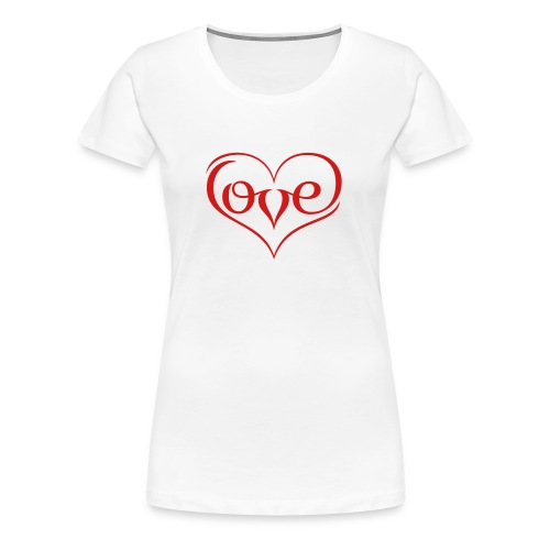 LOVE ♥ 02 ♥ - Women's Premium T-Shirt