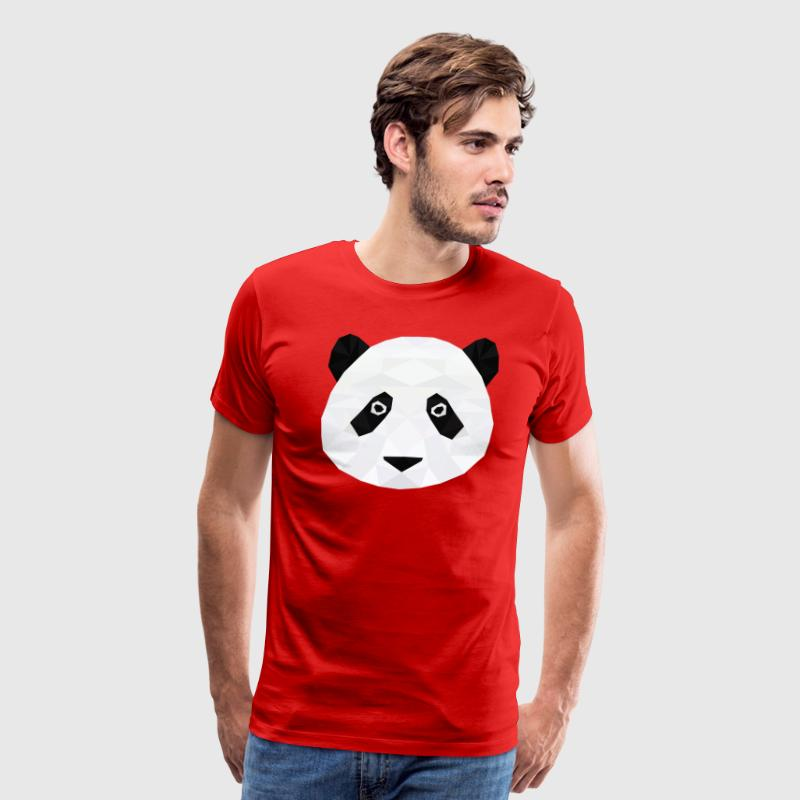 Low Poly Panda Head T-Shirts - Men's Premium T-Shirt