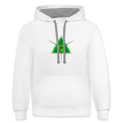 Geometric - Men's Ringer T-shirt - Contrast Hoodie