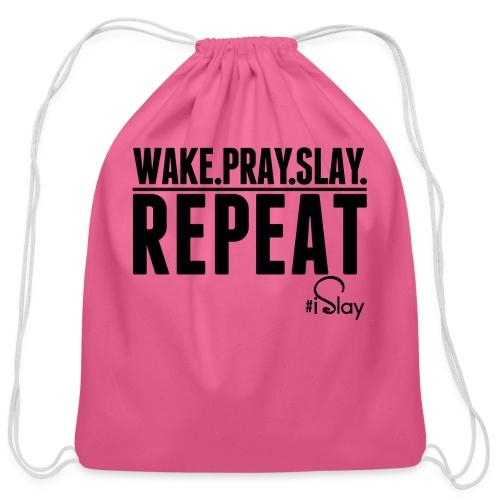 iSlay Repeat - Cotton Drawstring Bag