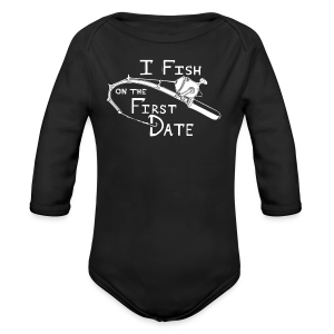 Fish First Date - Long Sleeve Baby Bodysuit