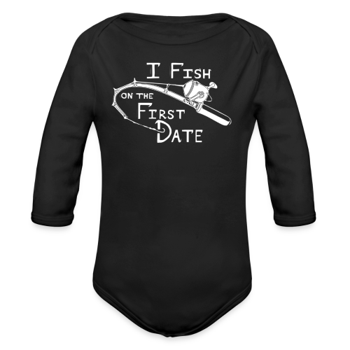 Fish First Date - Organic Long Sleeve Baby Bodysuit