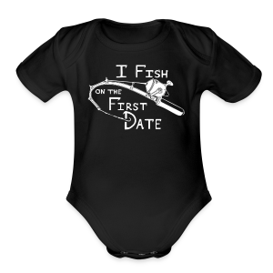 Fish First Date - Short Sleeve Baby Bodysuit