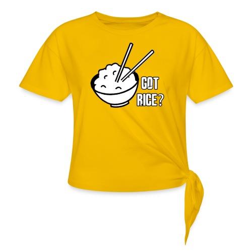 Mens T-shirt Got Rice? - Women's Knotted T-Shirt