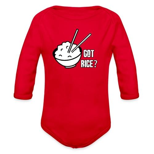 Mens T-shirt Got Rice? - Organic Long Sleeve Baby Bodysuit