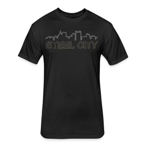 STEEL City - Fitted Cotton/Poly T-Shirt by Next Level