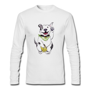 Happy Pit Bull! - Men's Long Sleeve T-Shirt by Next Level