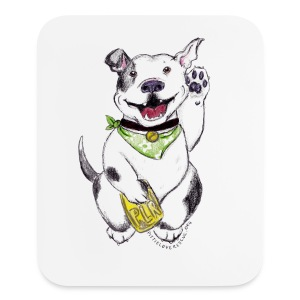 Happy Pit Bull! - Mouse pad Vertical