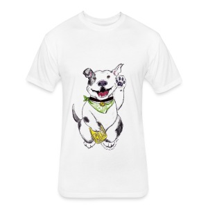 Happy Pit Bull! - Fitted Cotton/Poly T-Shirt by Next Level