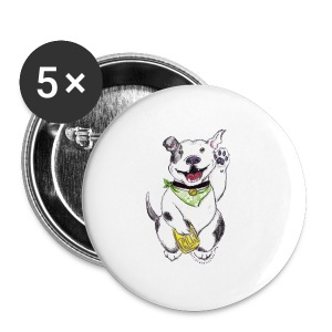 Happy Pit Bull! - Large Buttons