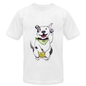 Happy Pit Bull! - Men's T-Shirt by American Apparel