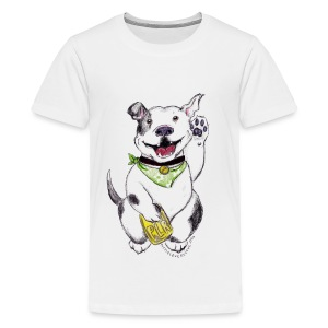 Happy Pit Bull! - Kids' Premium T-Shirt
