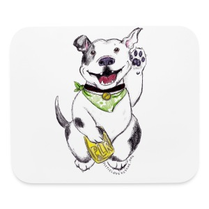 Happy Pit Bull! - Mouse pad Horizontal