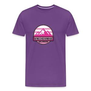 Ski Breckenridge Colorado Snow Skiing Mountains Pink - Men's Premium T-Shirt