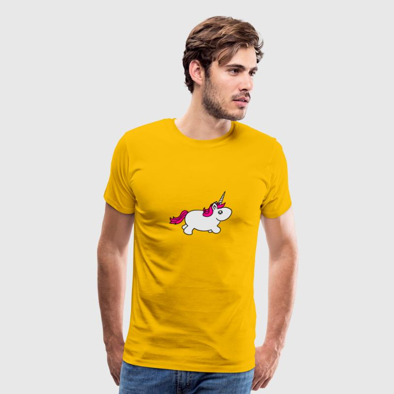unicorn unicorn little big fat sweet cute baby pon T-Shirts - Men's Premium T-Shirt