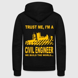 Civil Engineer - Trust me - Unisex Fleece Zip Hoodie by American Apparel