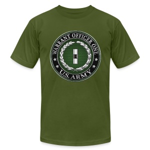 U.S. Army Warrant Officer One (WO1) Rank Insignia  - Men's T-Shirt by American Apparel