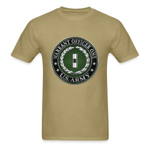 U.S. Army Warrant Officer One (WO1) Rank Insignia  - Men's T-Shirt