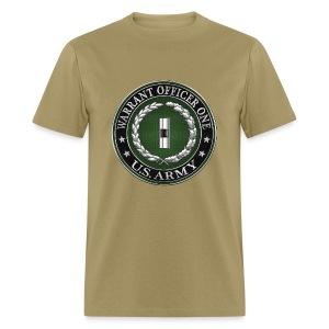 U.S. Army Warrant Officer One (WO1) Rank Insignia  - Men's T-Shirt